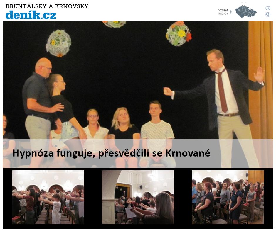 Hypnotizer Jakub Kroulik_rozhovor Deník CZ - Hypnoza funguje presvedcili se Krnovane