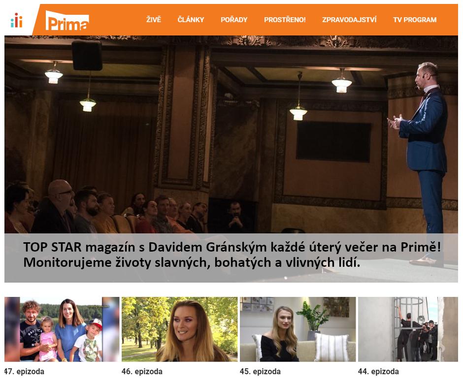 Hypnotizer Jakub Kroulík - rozhovor televize PRIMA - TOP star magazin 2