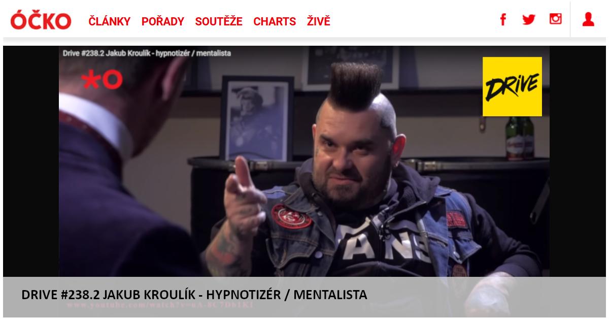Hypnotizér Jakub Kroulík - rozhovor DRIVE - OCKO TV