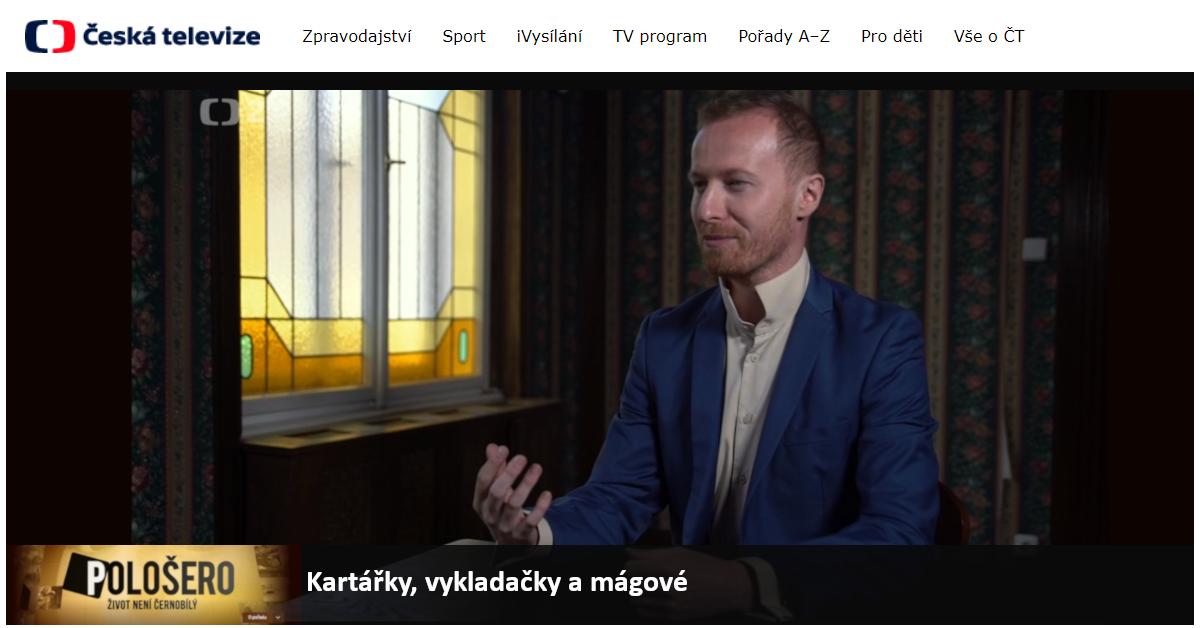 Hypnotizer Jakub Kroulík - rozhovor Ceská televize - Polosero Kartarky vykladacky magove