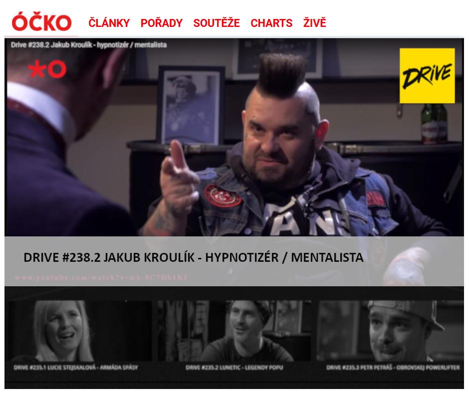 Hypnotizer Jakub Kroulik_rozhovor DRIVE OCKO TV 2