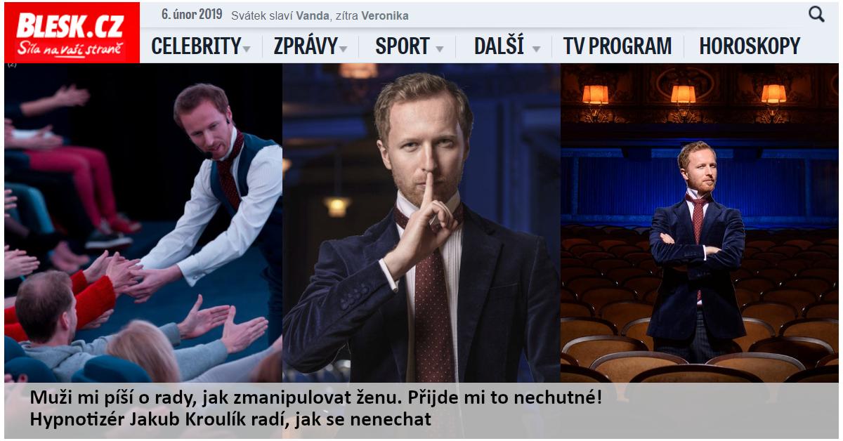 Hypnotizér Jakub Kroulík - rozhovor BleskCZ 2