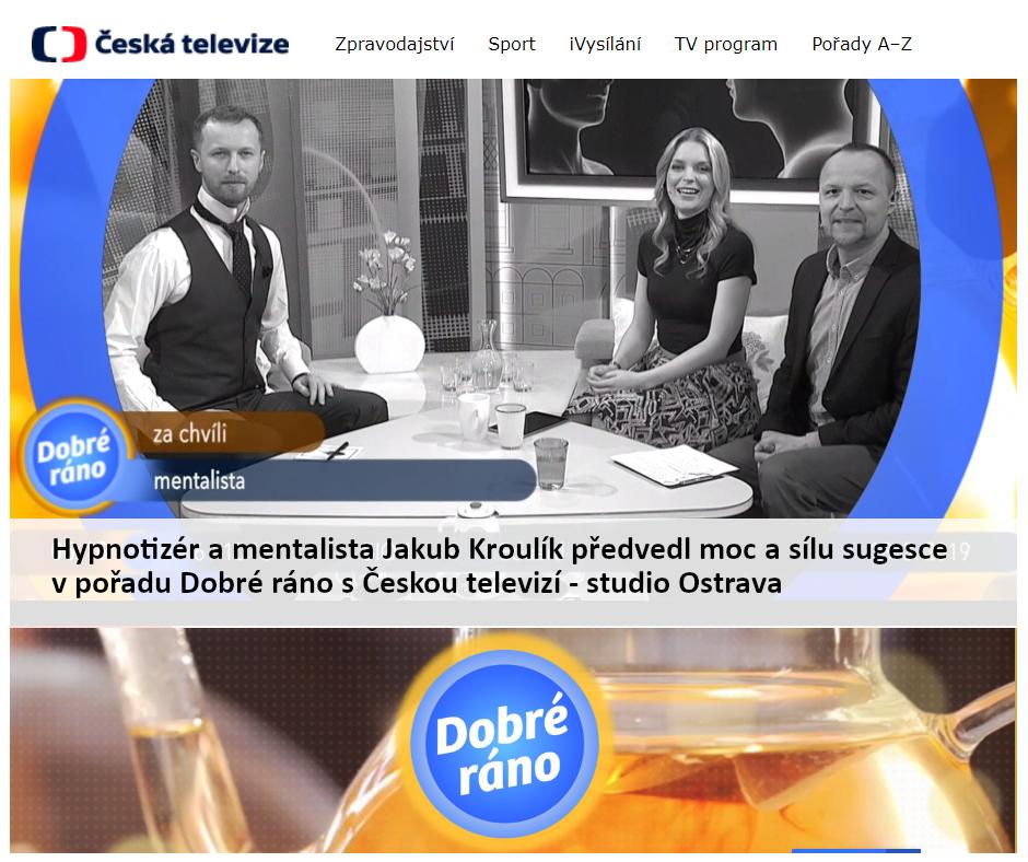 Hypnotizér a mentalista Jakub Kroulík předvedl moc a sílu sugesce