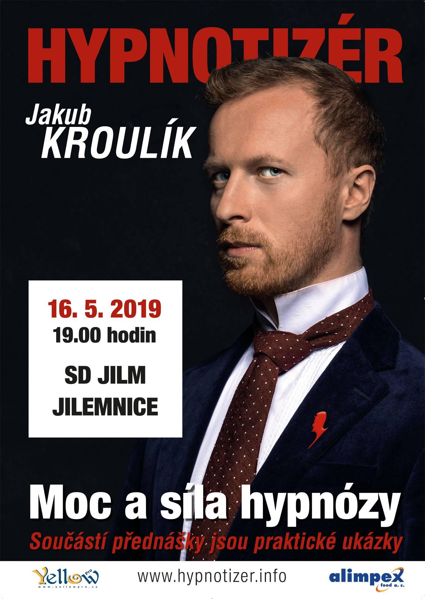 Hypnotizér Jakub Kroulík v Jilemnici