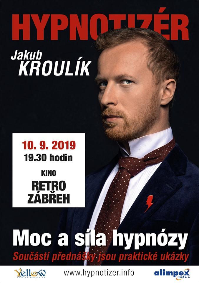 Hypnotizér Jakub Kroulík v Zábřehu