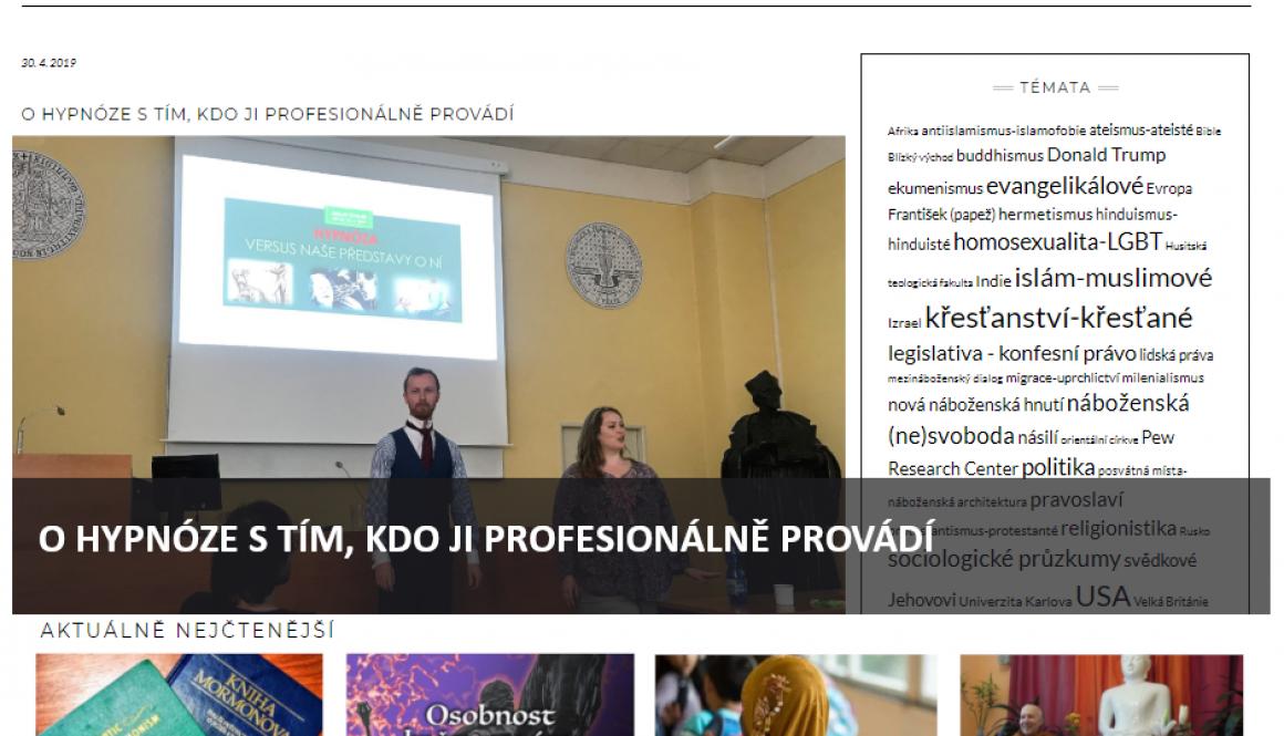 Hypnotizer Jakub Kroulik_clanek v magazimu DINGIR - O HYPNOZE S TIM, KDO JI PROFESIONALNE PROVADI