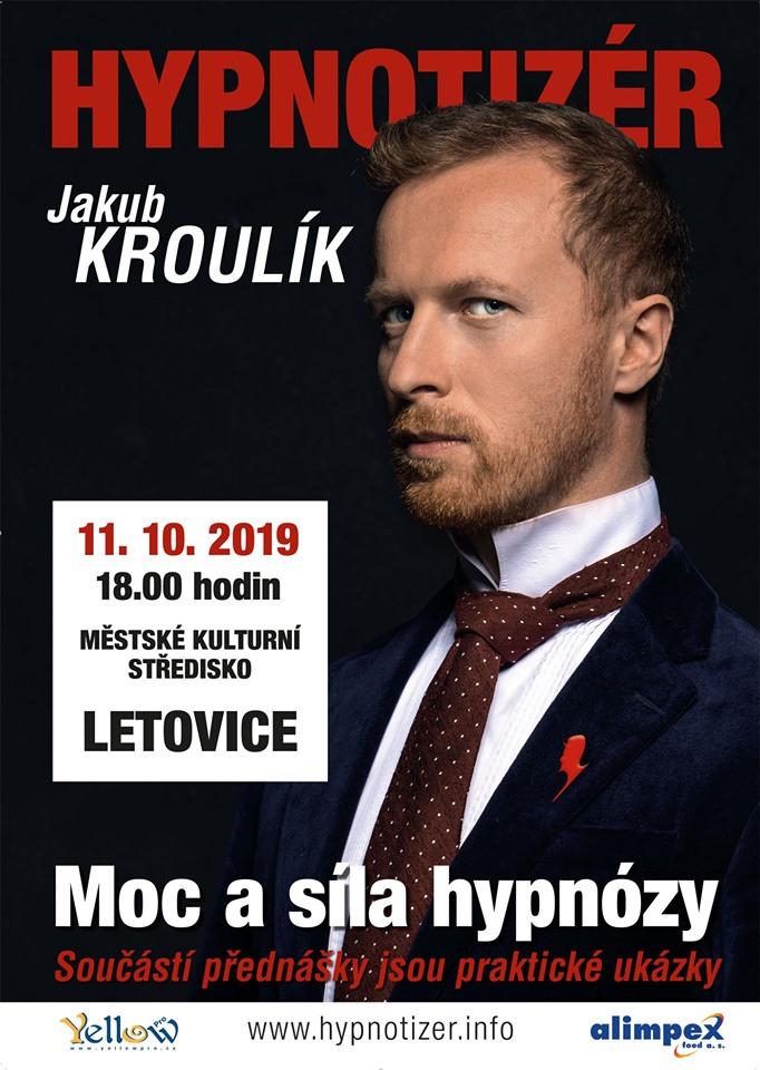 Hypnotizér Jakub Kroulík v Letovicích