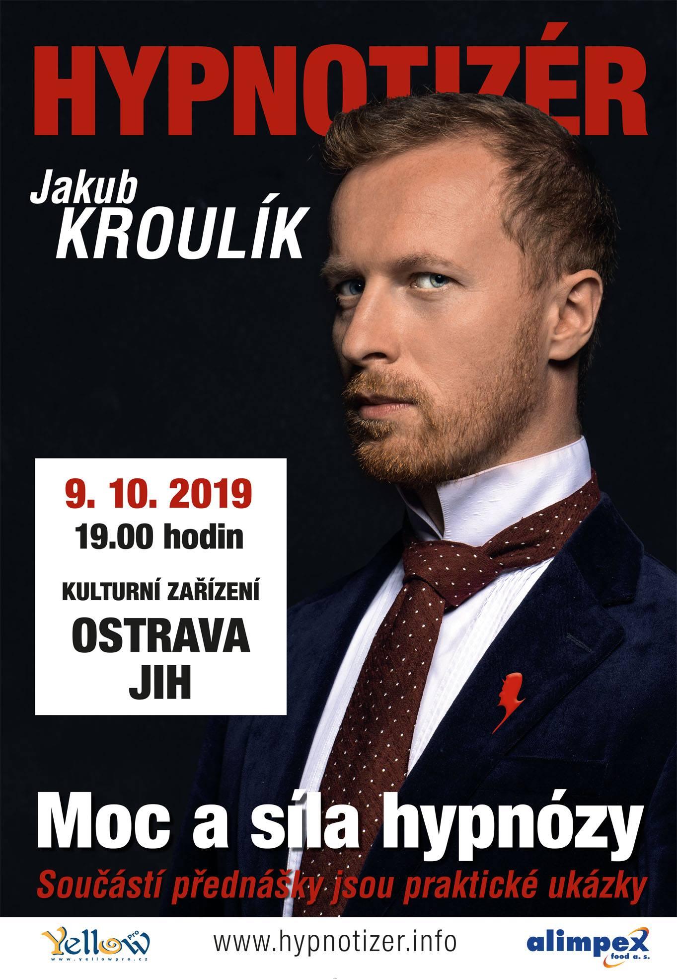 Hypnotizér Jakub Kroulík v Ostravě