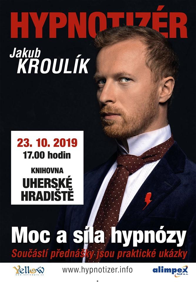 Hypnotizér Jakub Kroulík v Uherském Hradišti