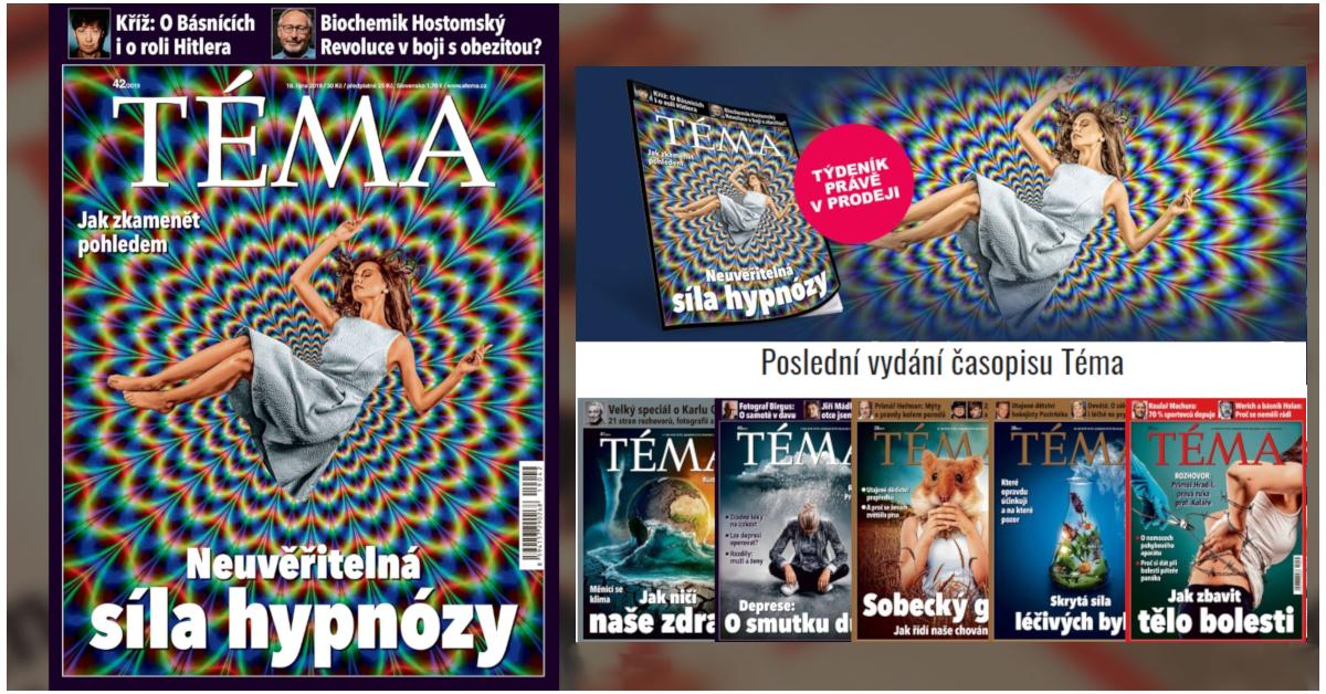 Rozhovor s hypnotizerem Jakubem Kroulikem pro casopis TEMA_detail