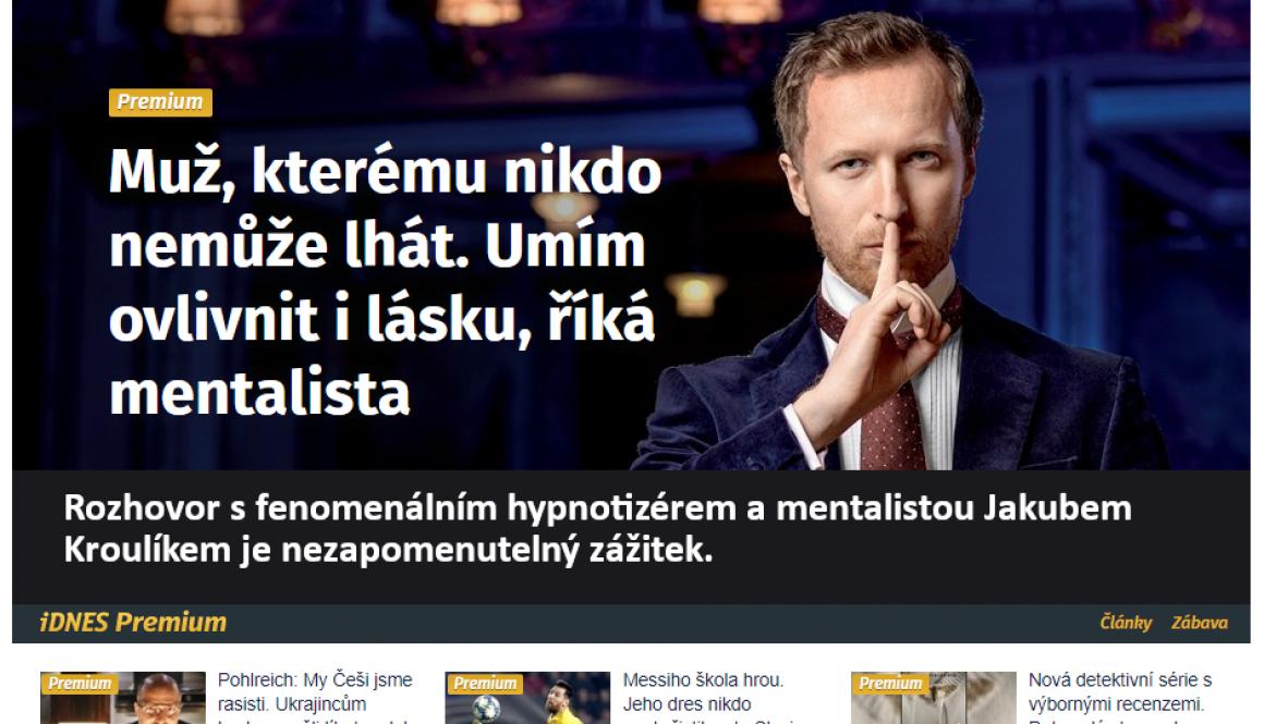 Hypnotizer Jakub Kroulik_rozhovor_iDnes