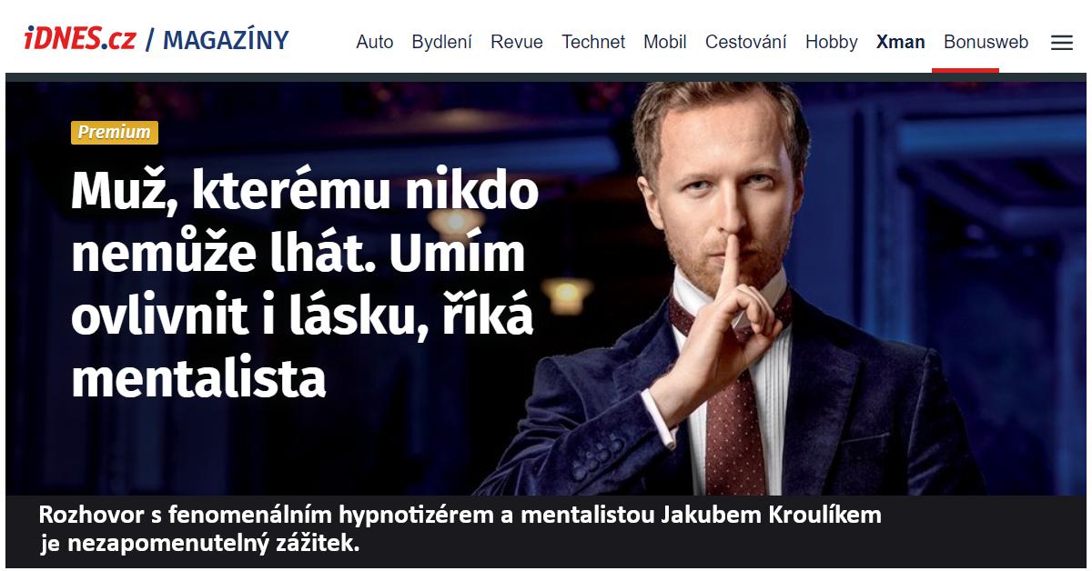 Hypnotizer Jakub Kroulik_rozhovor_iDnes_2