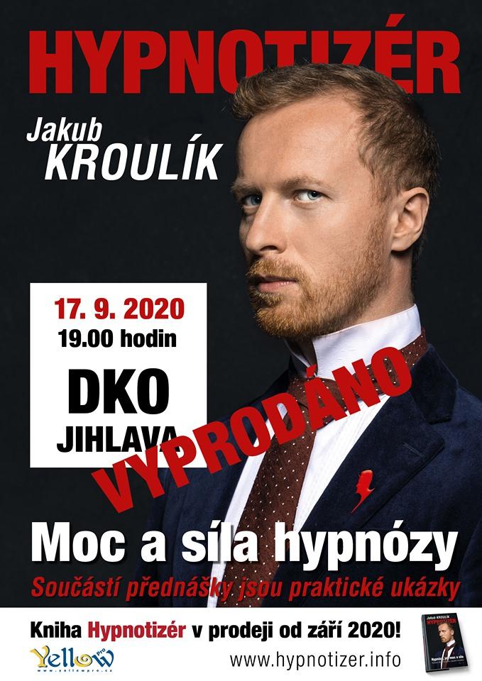 Hypnotizér Jakub Kroulík v Jihlavě 2020_kniha