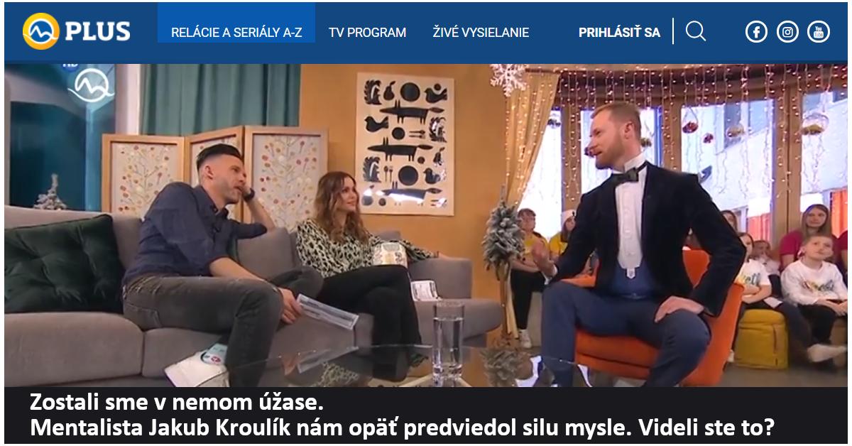 Hypnotizer Jakub Kroulik_rozhovor_TV Markiza_leden 2020_2