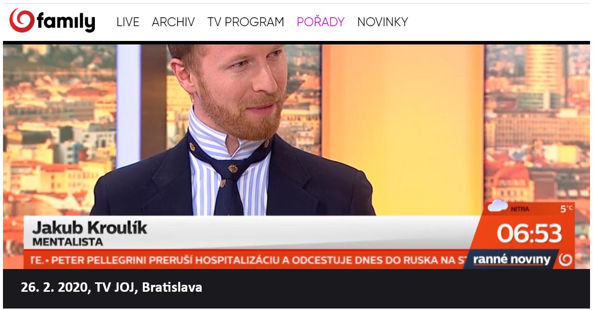 Hypnotizer Jakub Kroulik_rozhovor_TV JOJ_unor 2020_1