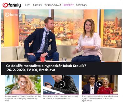 Hypnotizer Jakub Kroulik_rozhovor_TV JOJ_unor 2020_2