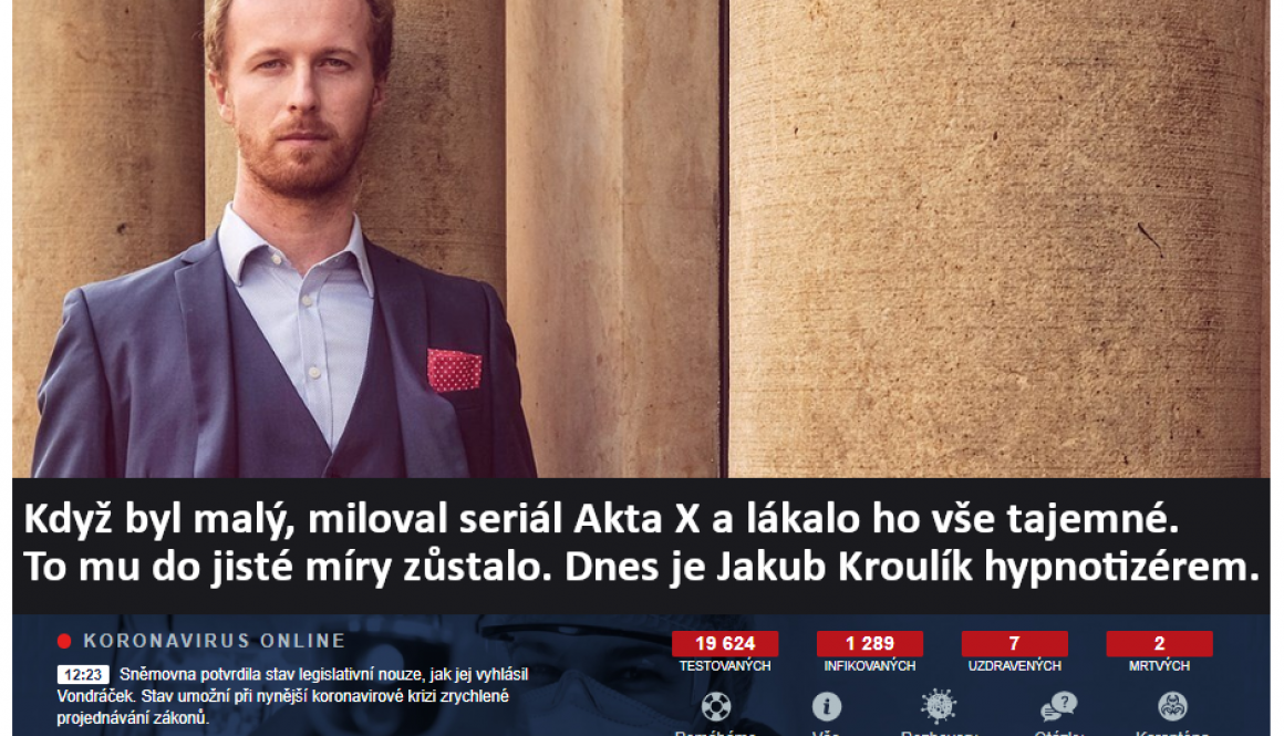 Hypnotizer Jakub Kroulik_rozhovor_Zena a zivot