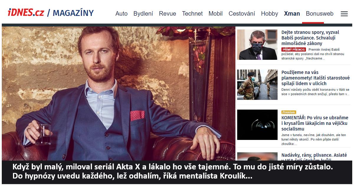 Hypnotizer Jakub Kroulik_rozhovor_Zena a zivot1
