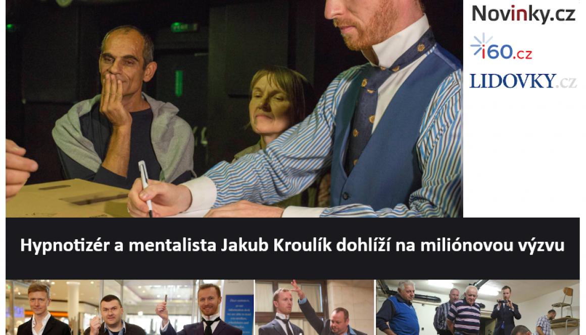 Hypnotizer Jakub Kroulik dohlizi na milionovou vyzvu