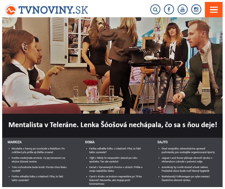Hypnotizer Jakub Kroulik rozhovor TV Markiza TELERANO 2