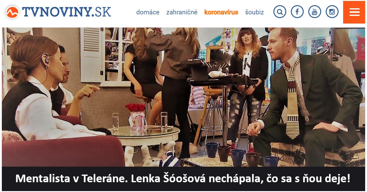 Hypnotizer Jakub Kroulik rozhovor TV Markiza TELERANO