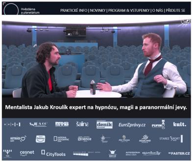 Hypnotizer JakHvězdárna a planetárium Brno - Hypnotizer Jakub Kroulik - rozhovorub Kroulik - rozhovor pro Hvezdarnu a planetarium Brno 2