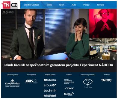 Mentalista-Jakub-Kroulík-bezpecnostnim garantem projektu Experiment NAHODA 2