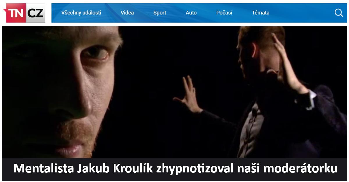 Mentalista Jakub Kroulík zhypnotizoval naši moderátorku - Magazín VÍKEND - TV Nova