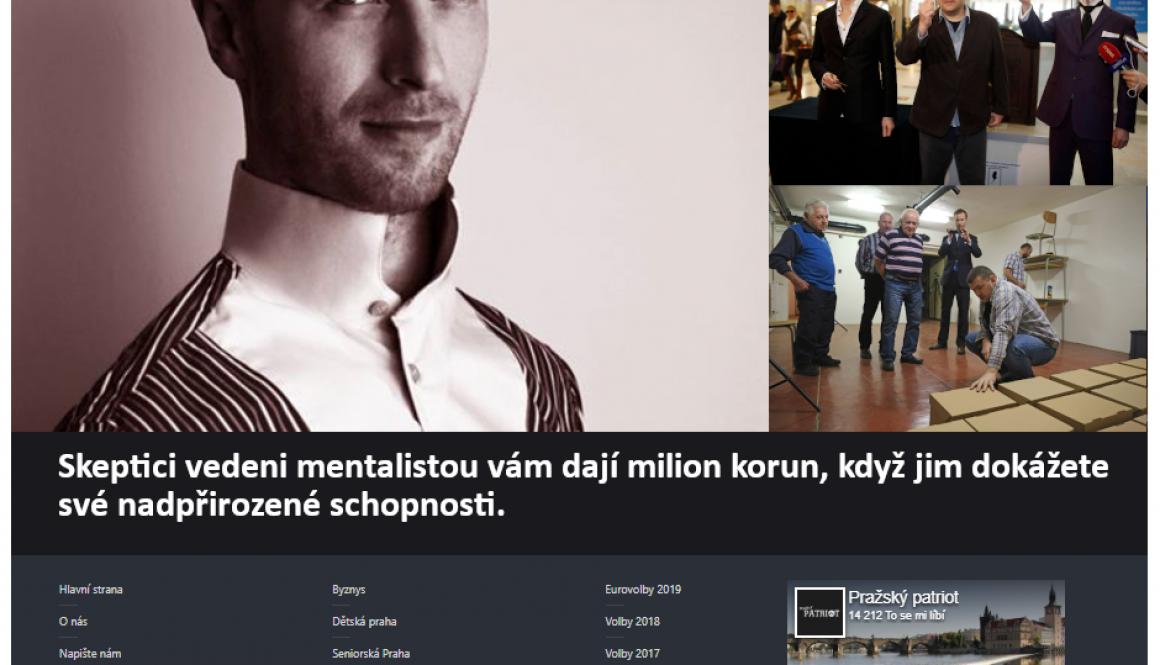 Hypnotizer Jakub Kroulik rozhovor Prazsky patriot 2