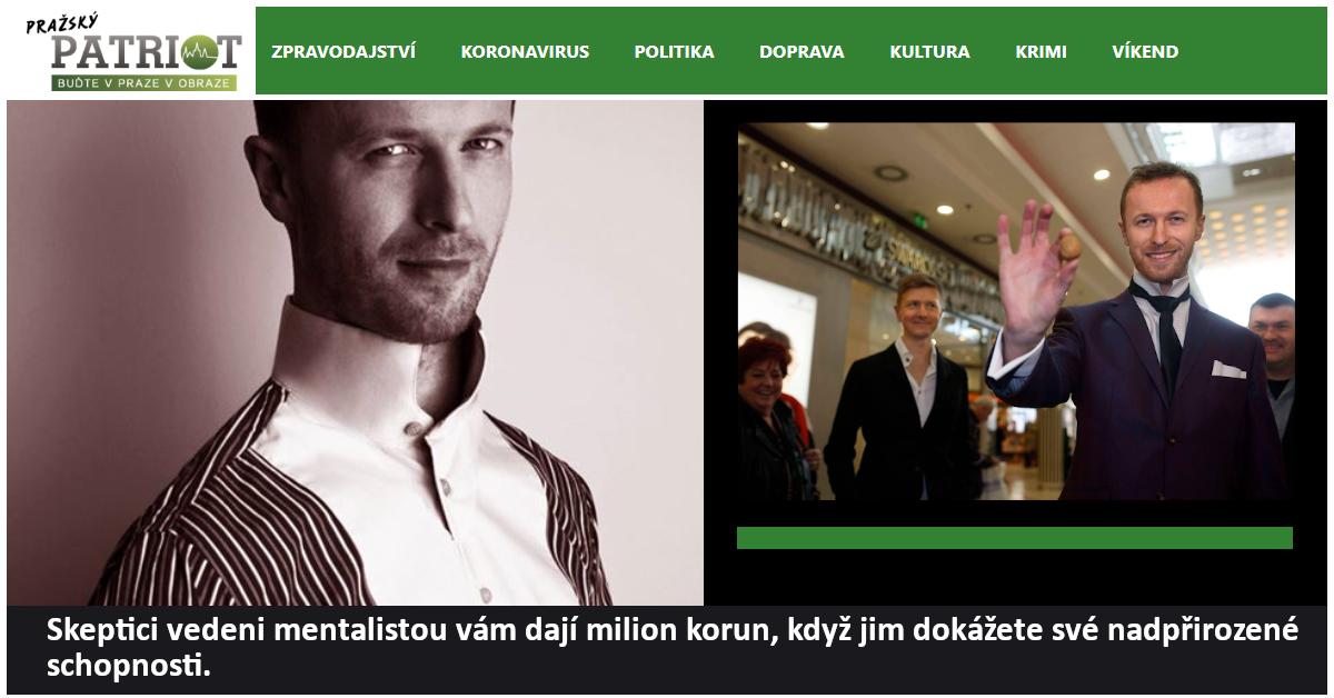 Hypnotizer Jakub Kroulik rozhovor Prazsky patriot