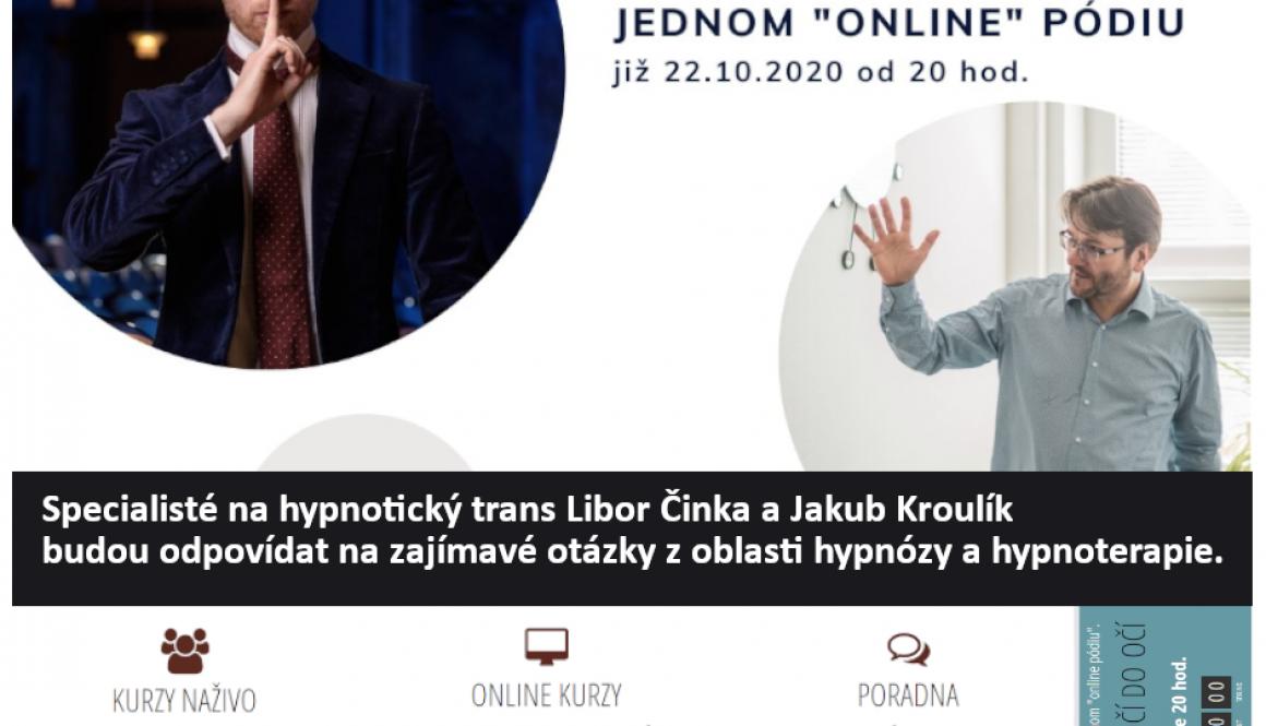 Libor Činka Webinář Z očí do očí_hypnóza v Čechách