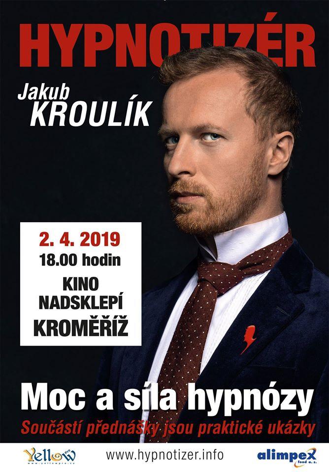 Hypnotizér v Kroměříži duben 2019