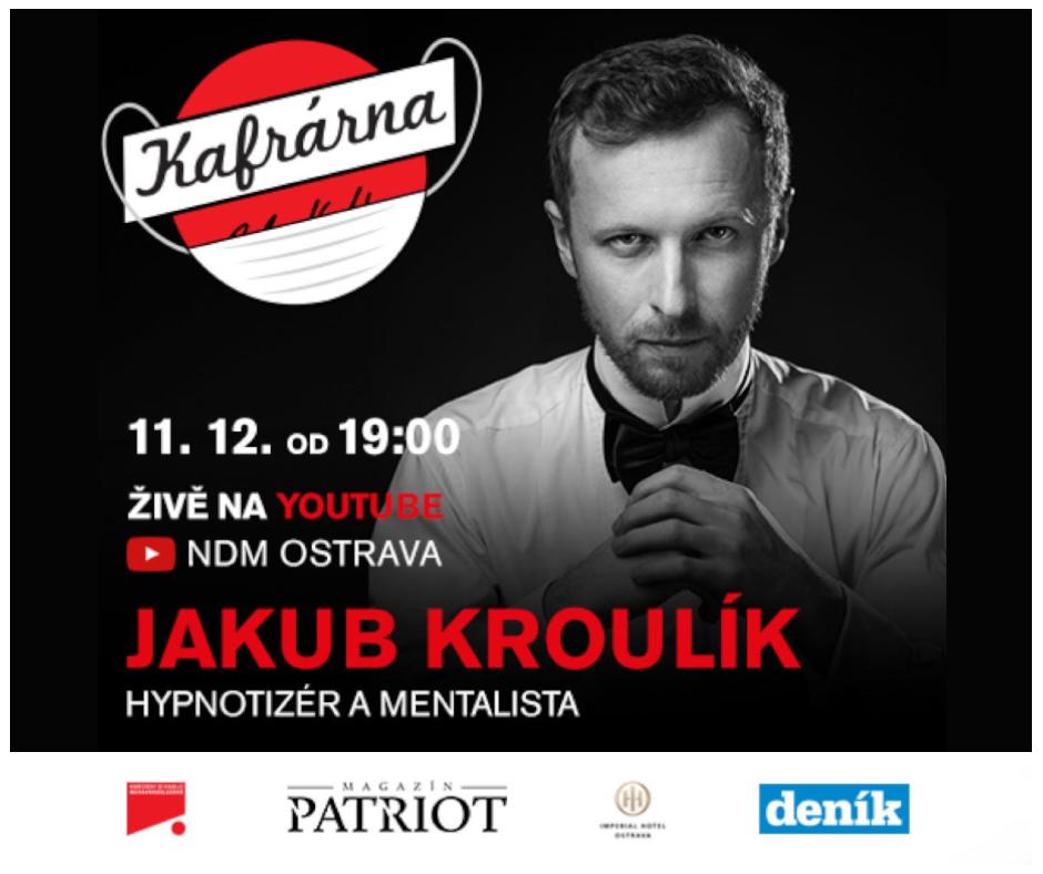 Hypnotizér Jakub Kroulík hostem talkshow Kafrárna Petra Kubaly