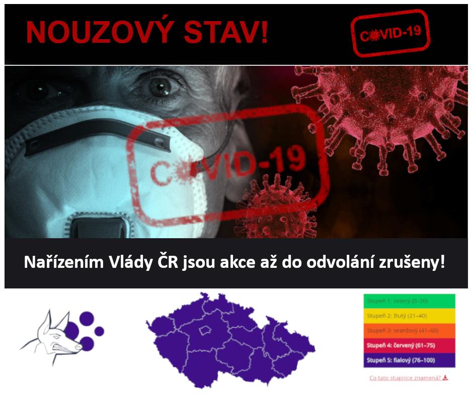 Nouzový stav_Nařízením Vlády ČR jsou akce až do odvolání zrušeny 2020 - 2021