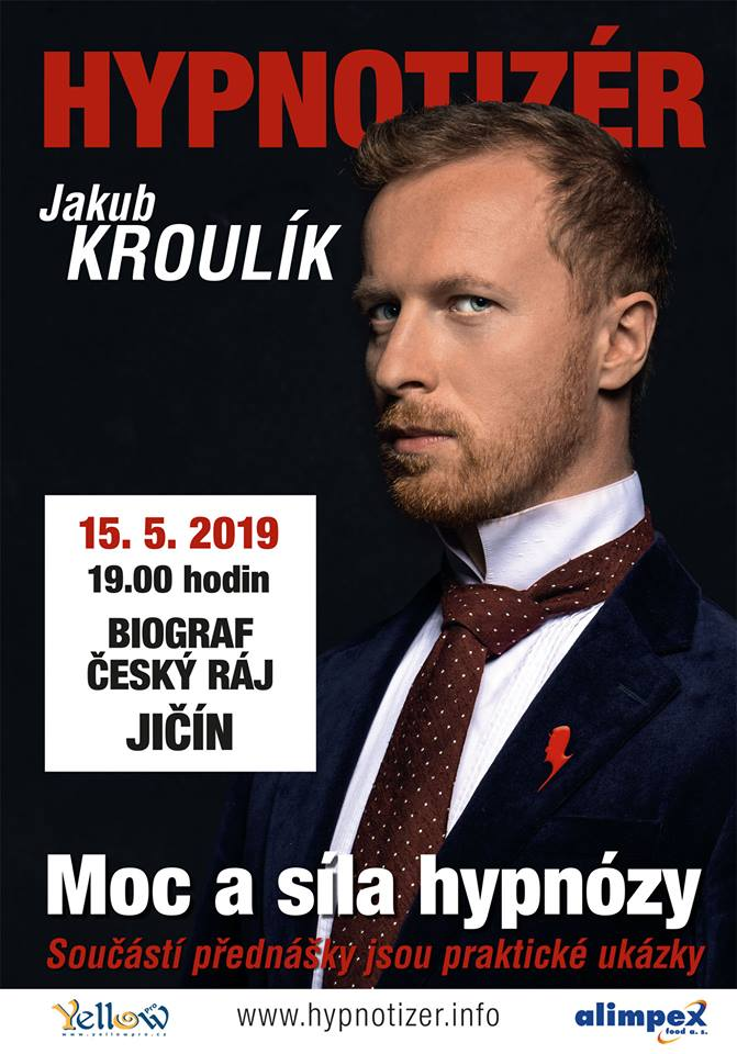 Hypnotizér v Jičíně květen 2019
