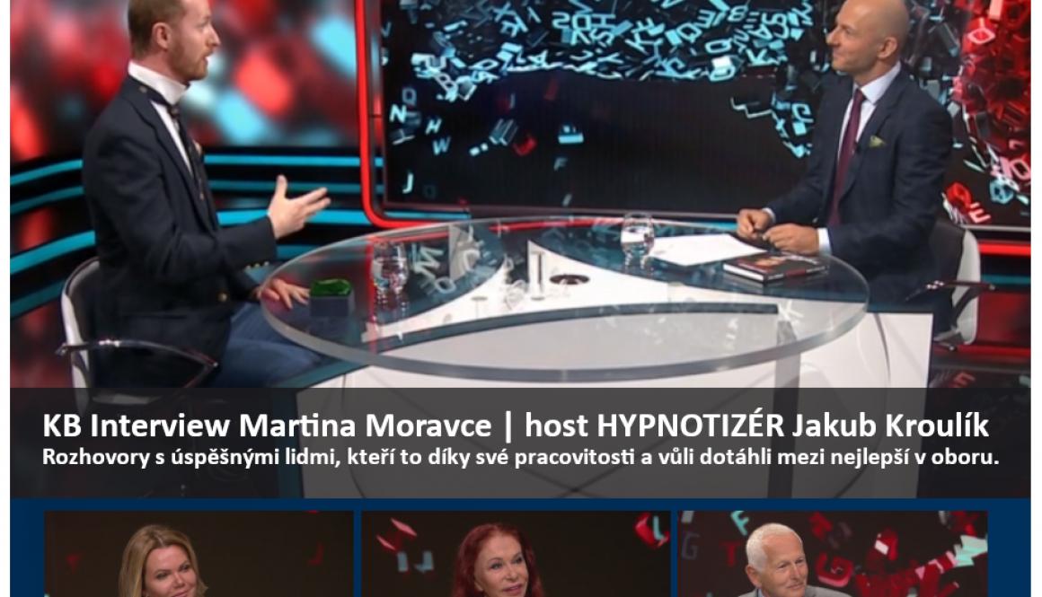 Hypnóza_KB interview Martina Moravce_host hypnotizér Jakub Kroulík 2