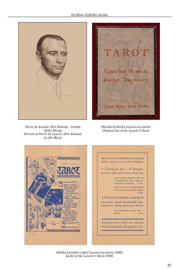 Lexikon českého tarotu | ukázka z knihy | Obálka knižního vydání Lasenicova tarotu