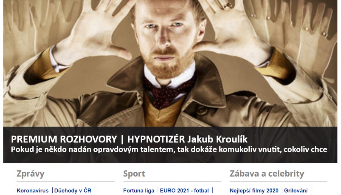 Reflex_rozhovor Honzy Dědka s hypnotizérem Jakubem Kroulíkem 2