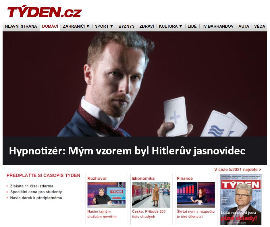 Týden_Hypnotizér_Mým vzorem byl Hitlerův jasnovidec 2